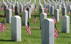 National Cemetery w:Flags